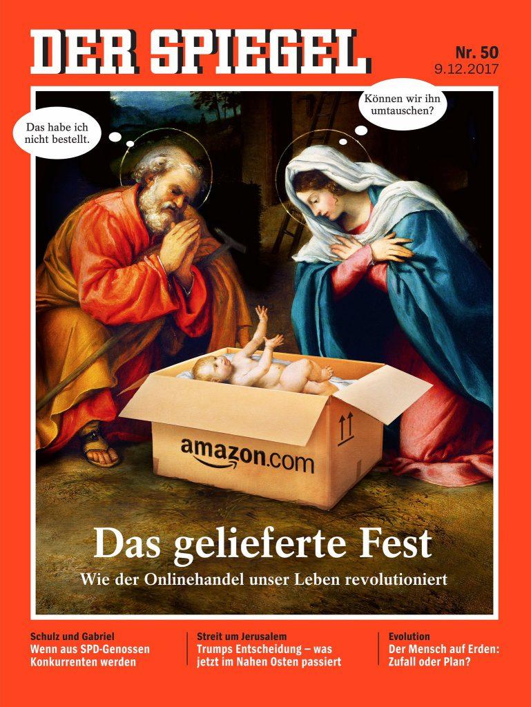 Jezus w pude ku z logo amazona kontrowersyjna ok adka for Logo der spiegel